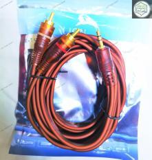 Cáp loa 3.5 ra 2 AV hoa sen dài 3M cao cấp (dây loa 1 ra 2)