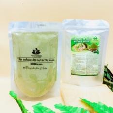 Gói 300gr tắm trắng cám gạo trà xanh, đắp mặt dưỡng da dùng cả cho face & body, cân bằng và cung cấp độ ẩm cho da giúp da mịn màng, tươi sáng