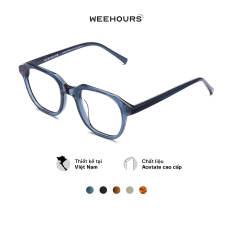 Gọng kính cận nam/nữ WeeHours GOAT , dáng vuông thời trang, nhựa Acetate cao cấp
