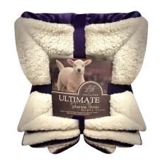 Chăn lông cừu Ultimate Sherpa Throw ( xanh Tím Than)