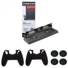 Chân máy kèm quạt mát cho máy PS4 + Sạc và bộ bảo vệ tay cầm PS4
