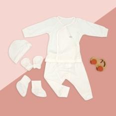 Set quần áo sơ sinh 5 món Comfybaby CF1020-SET5 chất modal làm từ sợi cây sồi siêu mềm và thoáng khí kháng khuẩn