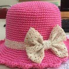 Mũ hồng nơ cho bé