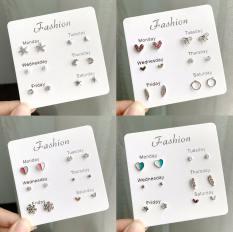Set Khuyên Tai 6 Món – Khuyên Tai Nữ Hot Nhất B2311 Bảo Ngọc Jewelry