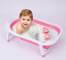 Chậu tắm em bé, thau tắm cho bé, chậu tắm gấp gọn cho trẻ sơ sinh cao cấp và tiện lợi