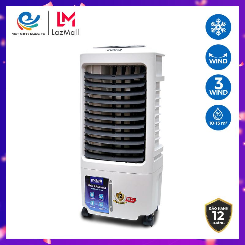 [ NHẬP ELMAY21 ] Giảm 10% tối đa 200k đơn từ 99k Quạt hơi nước Mobell AIR-2116A – điều hòa không khí – Công suất 70W – Dung tích 8L -Làm lạnh 4 chiều, tiện dụng – Hàng chính hãng bảo hành lên đến 12 tháng.