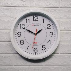 Kim trôi – Đồng hồ treo tường hình tròn viền trăng – Size 30cm – Đồng hồ treo tường kim trôi