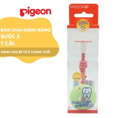 Bàn chải đáng răng Pigeon bước 2 – Màu hồng