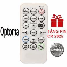 Remote điều khiển máy chiếu OPTOMA mẫu 2 projector (Tặng pin CR 2025)