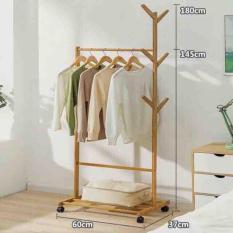 Cây treo quần áo bằng gỗ tiện dụng