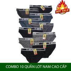 Combo 10 Quần Lót Nam – quần sịp xì nam co giãn X.men vải thun cao cấp cho mọi lứa tuổi từ 40-85kg