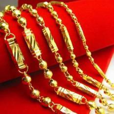 Dây chuyền vòng cổ nam ống trúc mạ vàng sang chảnh đẳng cấp