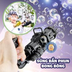 Đồ chơi phun, thổi bong bóng xà phòng siêu ngầu 8 nòng dùng pin kèm 1 khay đựng và 1 chai nước tạo bọt cho bé 105 – Đồ khuyến mãi giá tốt