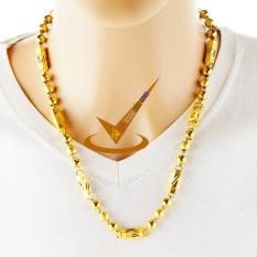 Dây chuyền nam khắc rồng – ống trúc mạ vàng 24k