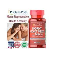 VIên uống bổ dưỡng tăng cường sinh lí nam giới Horney Goat Weed và Maca của Puritan's Pride