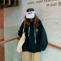 Áo sweater nữ, nam dáng rộng tay dài có mũ in hình Lá chất nỉ lót bông ấm TP384