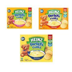 Bánh Qui Dành Cho Trẻ Em Heinz Farley Vị Chuối Và Tự Nhiên120g – Date 2022