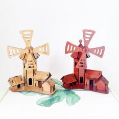 Đồ chơi lắp ráp gỗ 3D Mô hình Cối Xay gió Childishness Windmill Cottage R-9095.