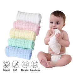 Sét 5 khăn sữa sợi tre nhăn mầu 6 lớp siêu mềm cho bé