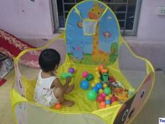 Lều bóng hươu cao cổ – lều banh nhà chơi cho bé yêu 120cm (không kèm bóng)