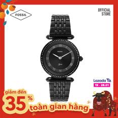 Đồng hồ nữ FOSSIL dây thép không gỉ Lyric ES4713 – màu đen