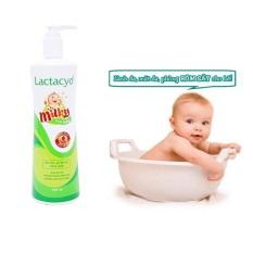 Sữa tắm gộị toàn thân trẻ em LACTACYD milky chiết xuất tự nhiên chống rôm xảy mẩn ngứa êm dịu cho bé