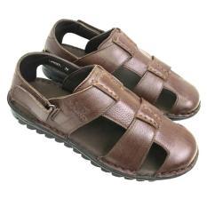 Giày sandal nam bít mũi da bò thật đế khâu chắc chắn AD138ND