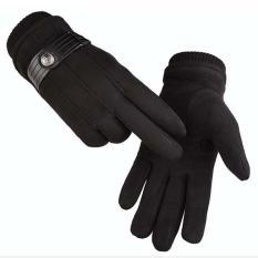 Găng tay nam chống nắng mẫu HOT năm nay chất liệu da lộn cực chất N1C01 (màu đen)