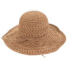 Mũ cói rộng vành đi biển đan tay hàng Quảng Châu rất dễ gấp gọn bỏ balo
