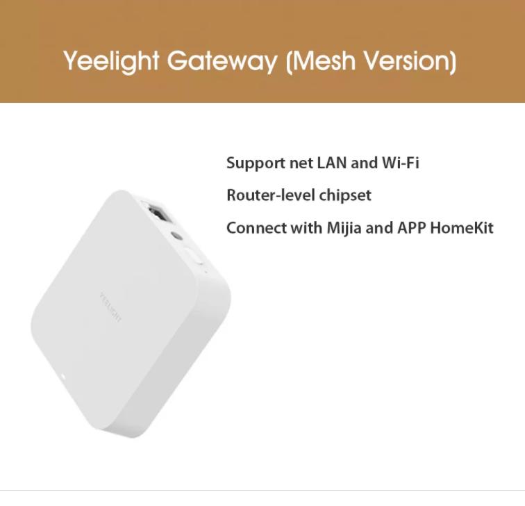 Cổng kết nối Wifi Trung Tâm Yeelight Mesh Gateway Hub YLWG01YL – Bản Quốc Tế Nhập Khẩu Chính Hãng