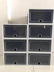 Combo 7 Hộp Đựng Giày Lắp Ráp Thông Minh Size To (Tặng Gói Hút Ẩm) , Tủ Giày Lắp Ráp