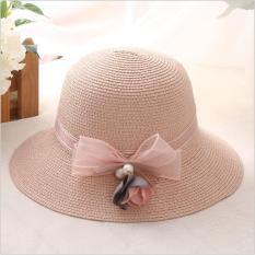 Mũ cói mềm đính hoa ly ly hàng Quảng Châu