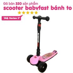 Xe trượt scooter Babyfast 3 bánh an toàn cho trẻ em của Babyhop chịu lực 90kg phù hợp cho cả bé trai và gái, bánh xe phát sáng vĩnh cửu, rèn luyện vận động, tăng chiều cao cho bé – Hàng chính hãng