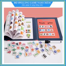Bộ đồ chơi Spelling Game – Học ghép vần, từ vựng tiếng Anh (Dạng sách cao cấp, chữ nam châm)