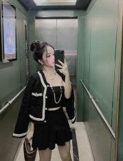[ CAM KẾT Y HÌNH & CHẤT ĐẸP] Áo khoác dạ dáng ngắn cho nữ, áo dạ viền ngọc dài tay, áo dạ tweed, áo dạ nữ thời trang ( Ảnh Thật )