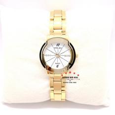Đồng hồ nữ Halei 457 dây thép không gỉ , có lịch , chống nuớc , chống xước – TẶNG combo 1 vòng tỳ hưu phong thủy + pin Nhật