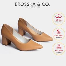 Giày cao gót Erosska mũi nhọn kiểu dáng cơ bản cao 5cm EP011 (BR)