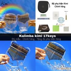 Đàn Kalimba 17 phím Kimi trong suốt- tặng đầy đủ phụ kiện như ảnh