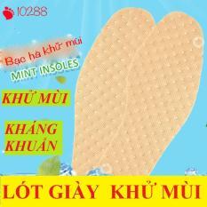 Bộ 4 Miếng (2 Đôi) Lót Giày Khử Mùi Bạc Hà Siêu Thoáng Khí, Chống Hôi Chân (Size 37 – 43)