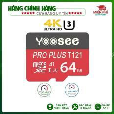 Thẻ nhớ Yoosee MicroSD 64GB Class 10+ tốc độ cao chuyên dụng cho camera,điện thoại, loa đài
