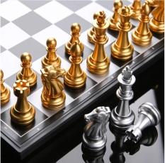 Bộ Cờ Vua UBon Nam Châm Từ Tính – Cờ Vua Thi Đấu Quốc Tế ( Vàng + Bạc )