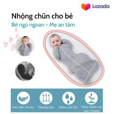 Nhộng chũn, quấn chũn, ủ kén cho bé Little Tots chính hãng giúp bé ngủ ngon, sâu giấc, chống giật mình.
