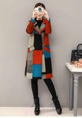 áo khoác dạ cổ vest phối màu cao cấp