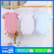 Bodysuits chip cộc tay vải tre cao cấp HAKI (4-12kg); body cho bé trai bé gái, body suit cho bé sơ sinh