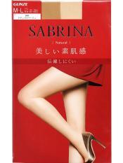 Tất Sabrina natural fit màu da size ML (màu 389), Quần tất Sabrina Gunze có độ đàn hồi tốt, không rút sợi, hàng nội địa Nhật- Ashley Mart