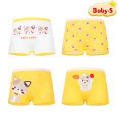 Set 4 quần chip đùi cho bé gái 2-12 tuổi chất cotton mềm mịn co giãn thoải mái họa tiết theo chủ đề đủ màu sắc đáng yêu Baby-S – SC015