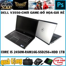 Dell V3550 chơi game đồ họa Core i5 2450M/ Ram 16G/ SSD256+ HDD 1TB/ MÀn 15.6in dòng vostro cao cấp và bền bỉ