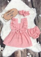 Váy bé gái màu hồng từ 6 tháng đến 3 tuổi