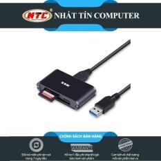 Đầu đọc thẻ nhớ đa năng SSK SCRM630 USB 3.0 – đọc thẻ TF/SD/CF (Đen) – Nhất Tín Computer