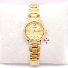 Đồng hồ nữ HALEI dây kim loại thời thượng ( HL489 dây vàng mặt vàng ) – TẶNG 1 vòng tỳ hưu phong thuỷ